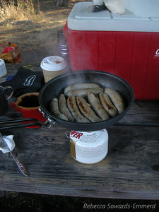 Breakfast - chicken apple sausages from Dittmers
