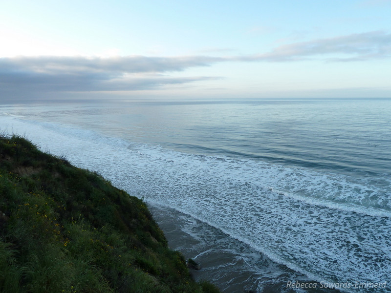 View by camp at El Capitan state beach