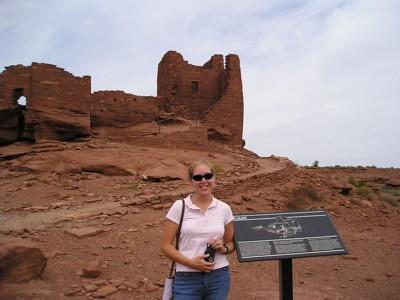 Bex at Wupatki National Monument