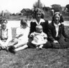 Henry II, Evelyn, Hazel holding Joann, and Anita Oakes. Children of Henry and Melina Oakes. Bay Shore, NY. About 1944.