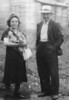 Marie Delphine Gallant Roy and Francois Jean-Baptiste Roy. Parents of Melina Roy Oakes. Probably taken 1930s in Maine (?).