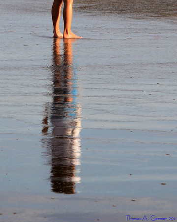 Reflection in the sand