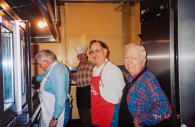 Rod cooking pancakes at St. Luke's