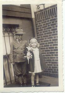 1942: Gerard Frost and Juda (Judy) Hampton.