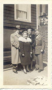 1943, April: George Patrick Frost, Bessie Hampton Frost, Fred Hampton.