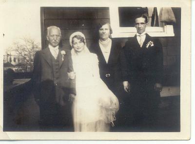 Mr. Petrillo, Jean (Petrillo?), Freda Pupke Hampton, and Fred Hampton.