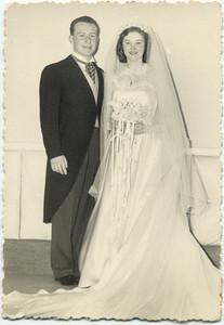 1950: Joe Collins & Teresa Brennan, wedding.
