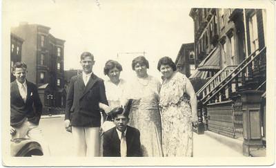 1930: John Cuddy (Brother Henry, OSF), Mary Henry Frost, Lillian Henry Cuddy, Anna Henry Nelson, Billy Cuddy.