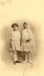 "1928: Katherine Brennan and Margaret ""Tiny"" Brennan."