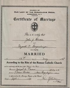 John Burke & Elizabeth Bogensberger marriage certificate.