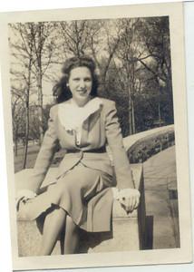 1945, April 8: Gloria Kuehne Frost; Fort Greene Park.