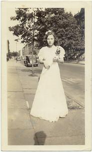 1941: Gloria Kuehne Frost, 8th grade graduation.