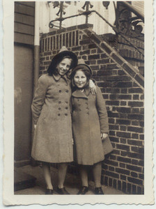 1942: Gertrude and Theresa Yarzab (granddaughters of Johanna (Pupke) Loebel).