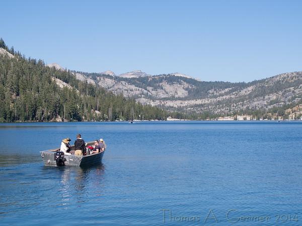 Boat on Lower Echo Lake.