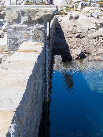 The spillway for Lake Aloha (8116')