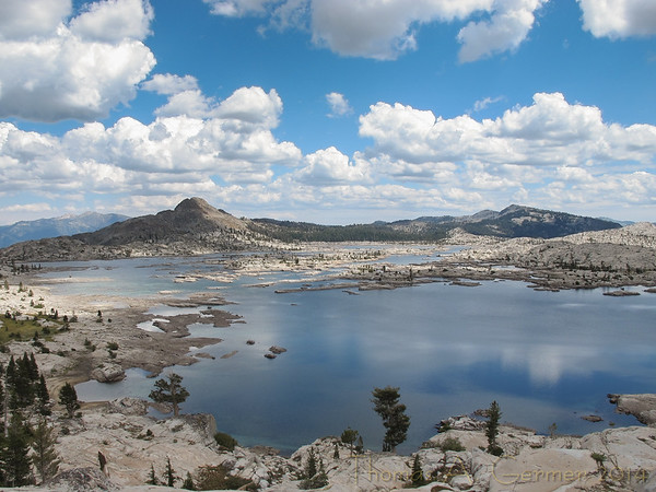 Lake Aloha from the ascent to Mosquito Pass.