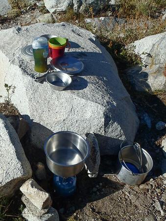 Camp at Clyde Lake
