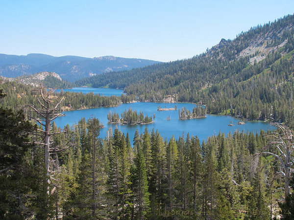 Upper Echo Lake with Lower Echo Lake in the background.