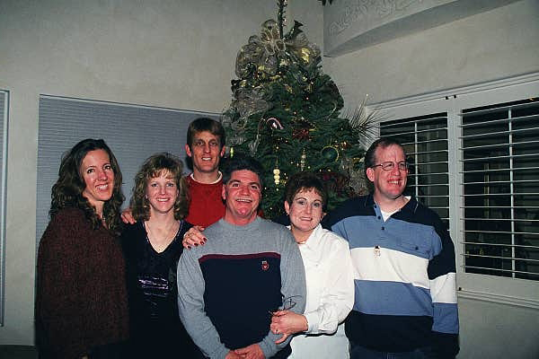 Steve's sister, Michelle;<br /> his cousin, Brenda;<br /> Steve;<br /> his cousin, Drew;<br /> his cousin, Marianne;<br /> and his brother, Mike.<br /> December 2002.