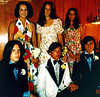Joann, Debbie, Nancie; ?, Al, Pete.  Before High School Prom June 1972.
