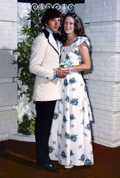 Al and Debbie, High School Prom June 1973.