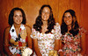 Joann, Debbie and Nancie,  before High School Prom June 1972.
