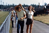 Al and Debbie at the raceway, Long Island. 1972