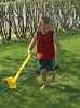 Enjoying the (cold!) spray of the sprinkler on this hot (29º C) summer like day (May 9th, 2007).