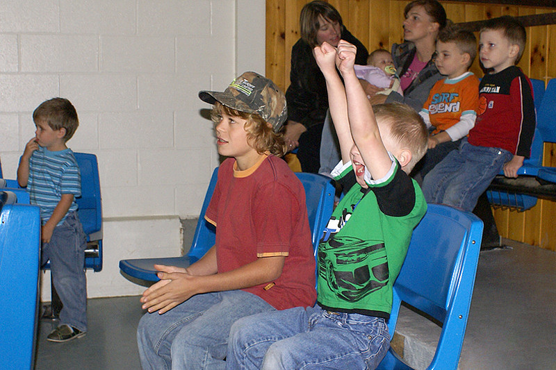 John was a great sport during the bowling, here he is cheering after one of his party guests knocked over a few pins.