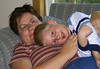 Both Mom and John area a little worn out from the day at School.<br /> <br /> Mom is going to be really tired tomorow - all the kids will be in school tomorow!