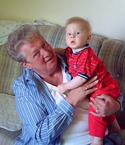 John visiting with Grandma Memory
