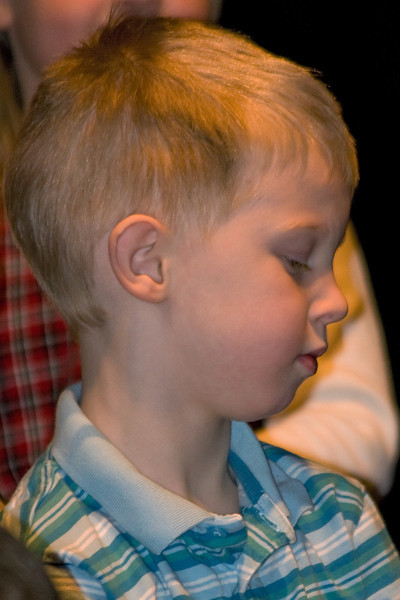 During a part of the 2007 SK Christmas concert.
