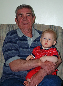 John with Grandpa Ed - niether really look too impressed, do they?