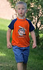Walking home from his 'first day' of school, August 28, 2006
