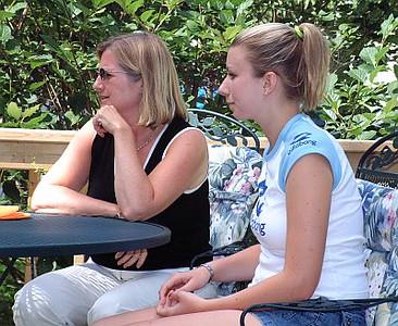 Kathy and Sara