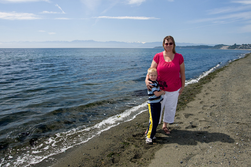 Wendy and John on the beach in Victoria, BC.