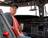 Me sitting in the left seat of a De Havilland Canada CC-115 Buffalo (DHC-5D) (SN 10). The aircraft had to land in Dryden due to a blown engine, and now have to wait for a good week for a engine to be flown in by a Hercules.<br /> <br /> Photo taken by one of the crew.