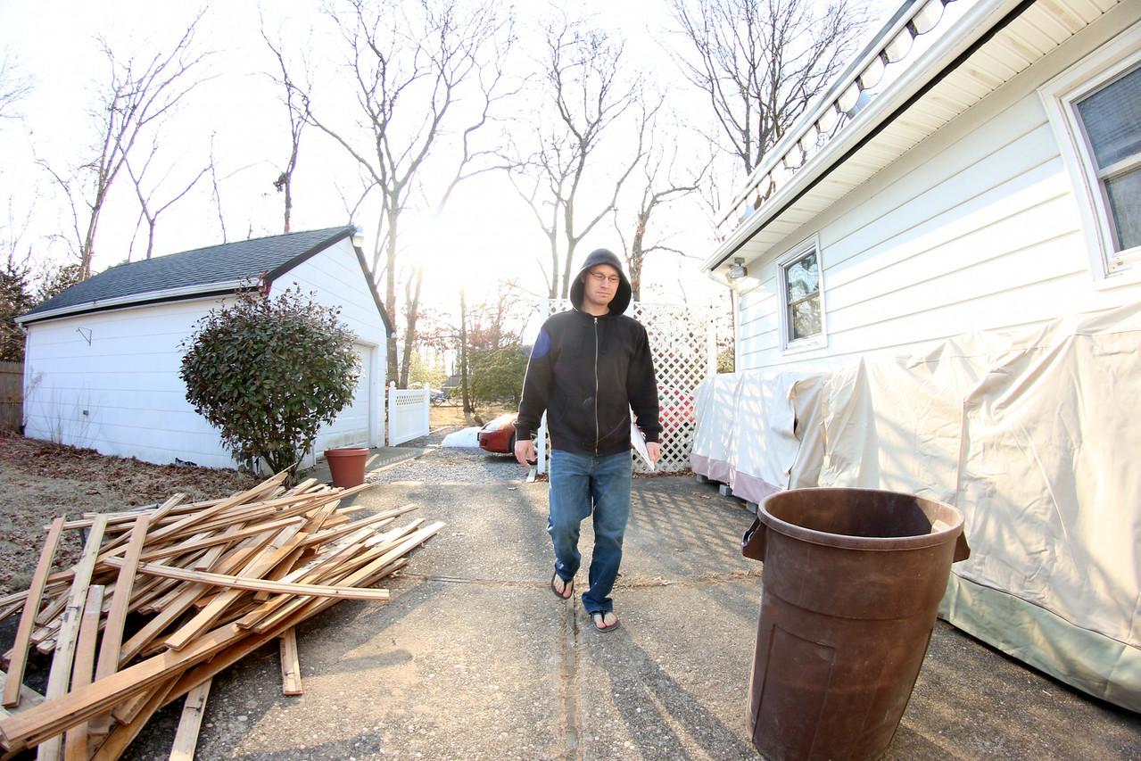 Chris at his house.