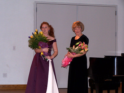 After the recital -- Carolyn and Barb Stewart.