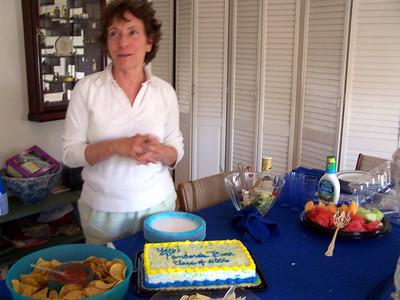 Dessert! Vicki and the cake.