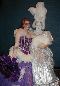 Carolyn and her friend Amber in their costumes for Dildo & Anus (uh... I mean Dido and Aeneas).