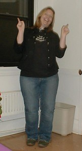 Danielle doing a pokey dance.