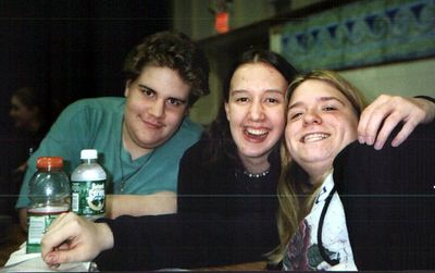 Drew, Allie, and Melissa, my senior year.