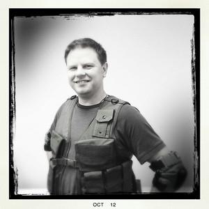 Charles as a commando