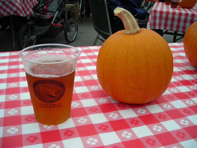 Oh, and we washed it all down with some Half Moon Bay Brewing Company Pumpkin Harvest Ale. Pretty darn tasty.