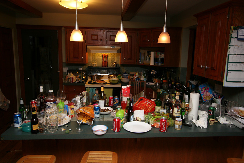 The party's over, just need to leave the Webster's in peace to clean-up...