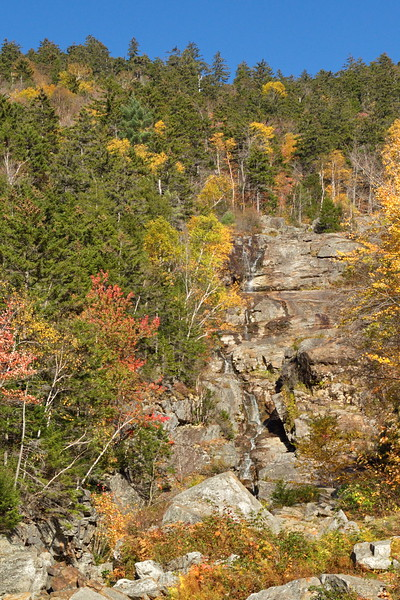 Silver Cascade Overlook in Crawford Notch State Park - October 17th, 2017