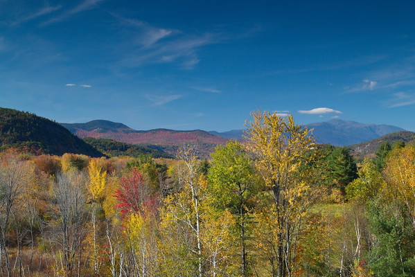 Mount Washington from Scenic Overlook in North Conway, New Hampshire - October 21st, 2017