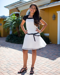 February 23, 2013  - Jennie all dressed up for a friend's Bat Mitzvah
