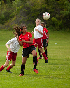 February 24, 2013 - I am not sure why she is making a fist when this is a soccer game......